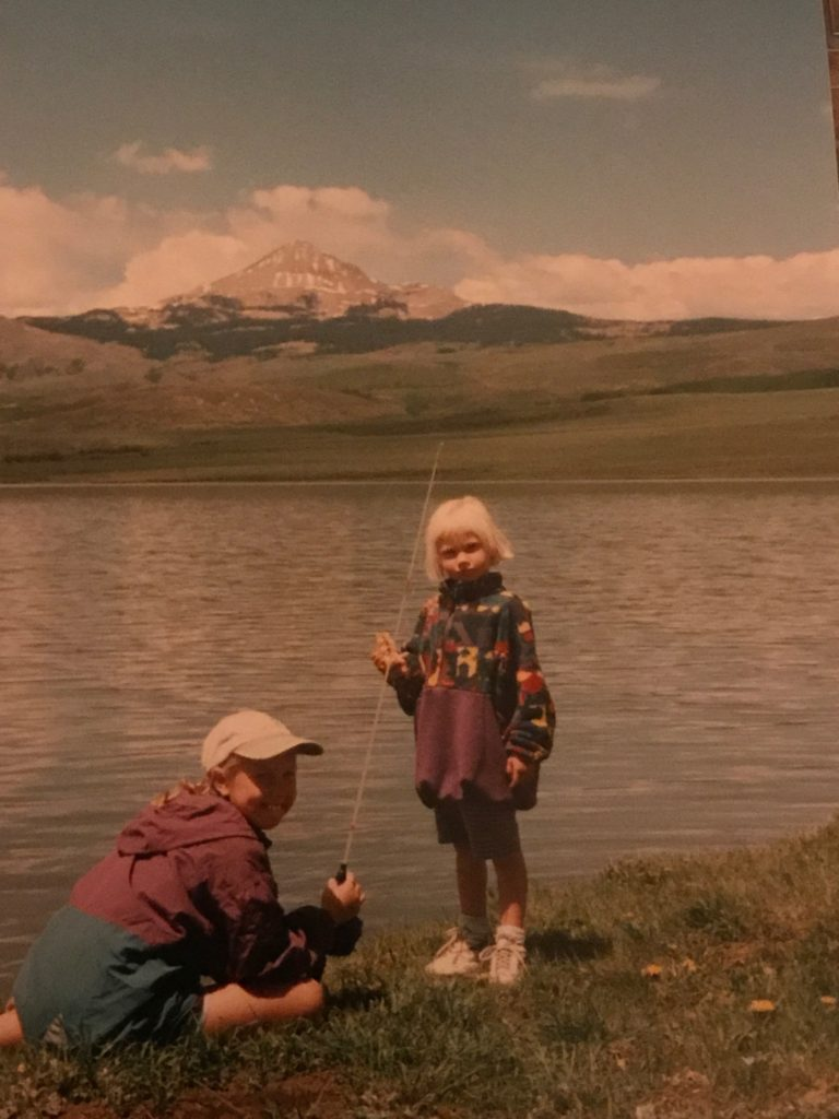 rose mattson - fishing with my little sister, colorado
