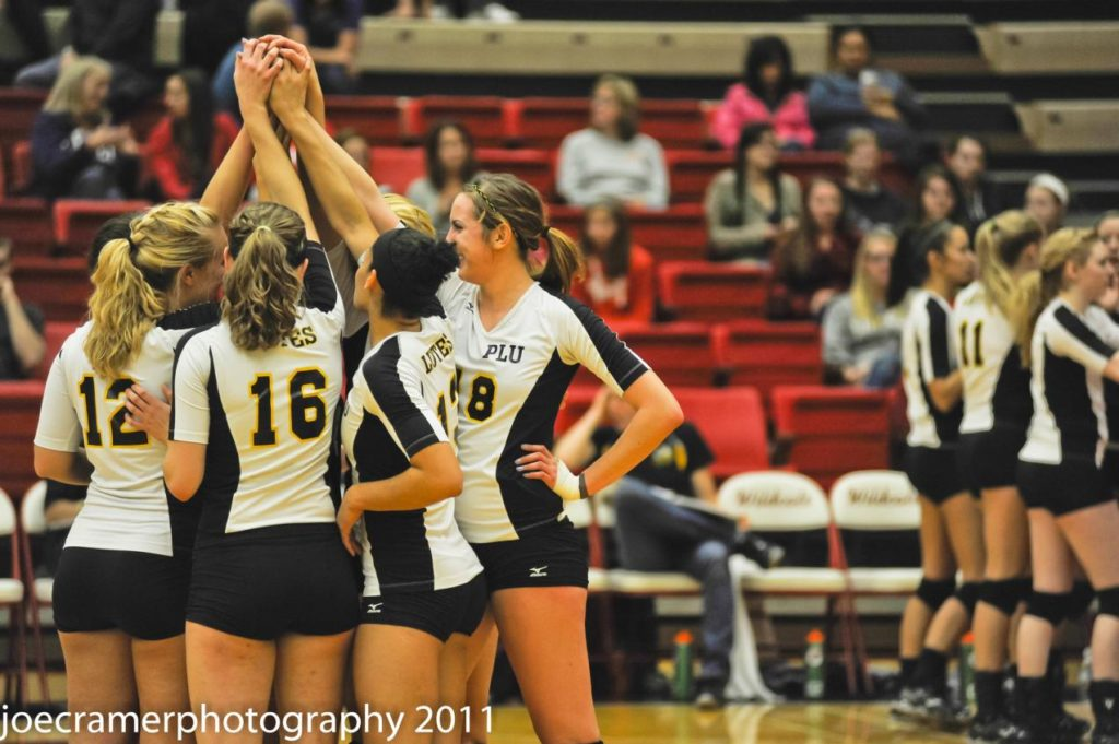 rose mattson - pacific lutheran volleyball game day