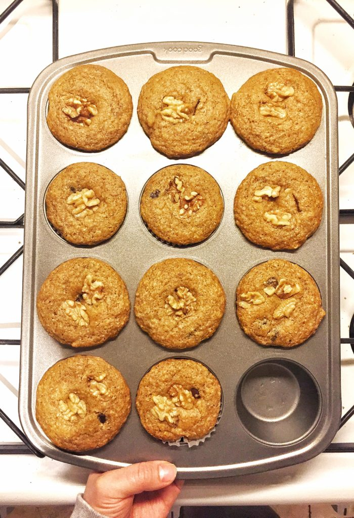 Rose Mattson - banana muffins with chocolate chips
