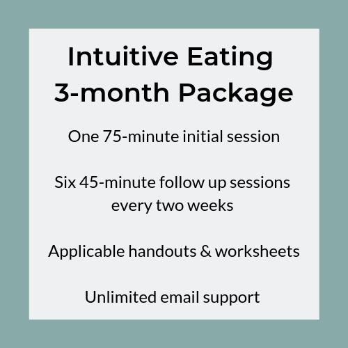 Intuitive Eating 3-month Package